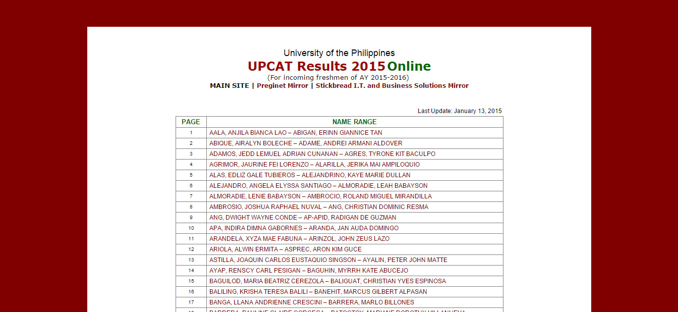 upcat2015